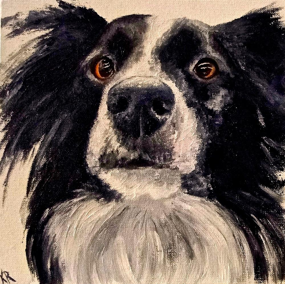 """Portrait of a dog"" original fine art by Karen Robinson"