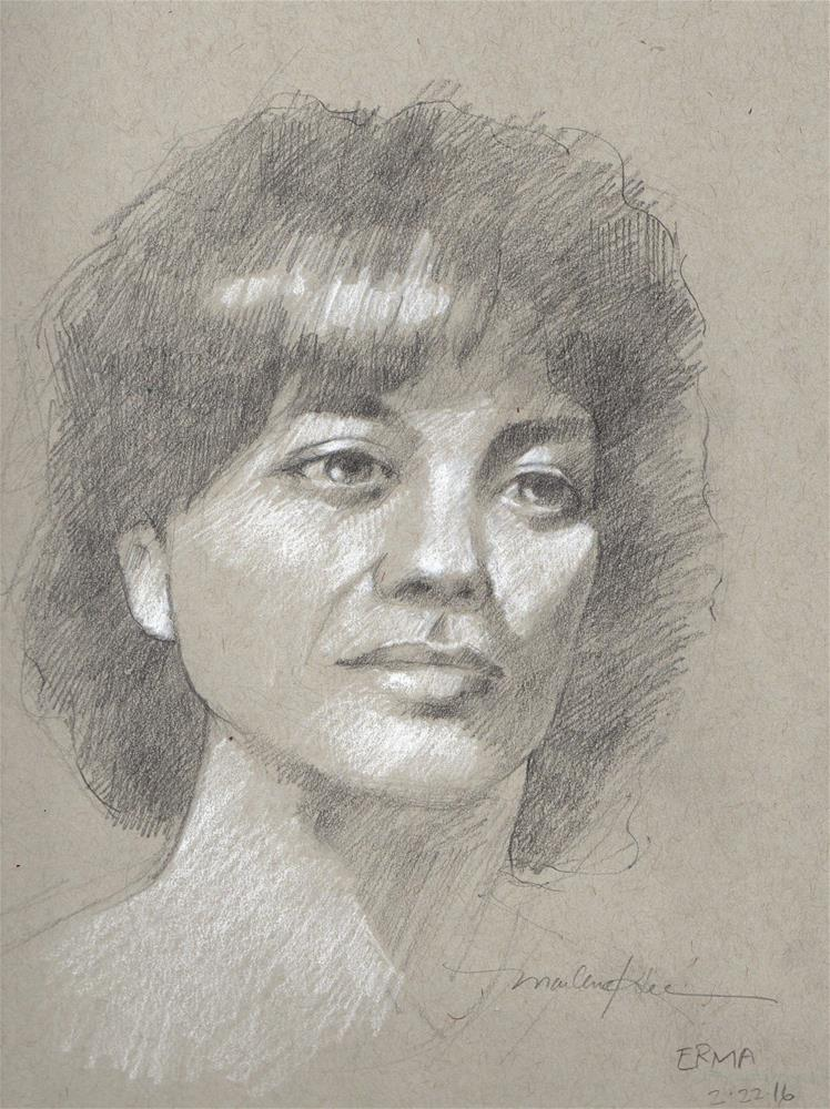 """""""Irma"""" original fine art by Marlene Lee"""