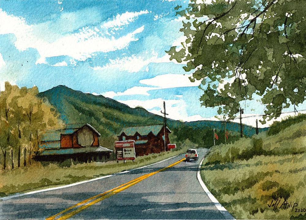 """Road To Sevierville"" original fine art by Jeff Atnip"