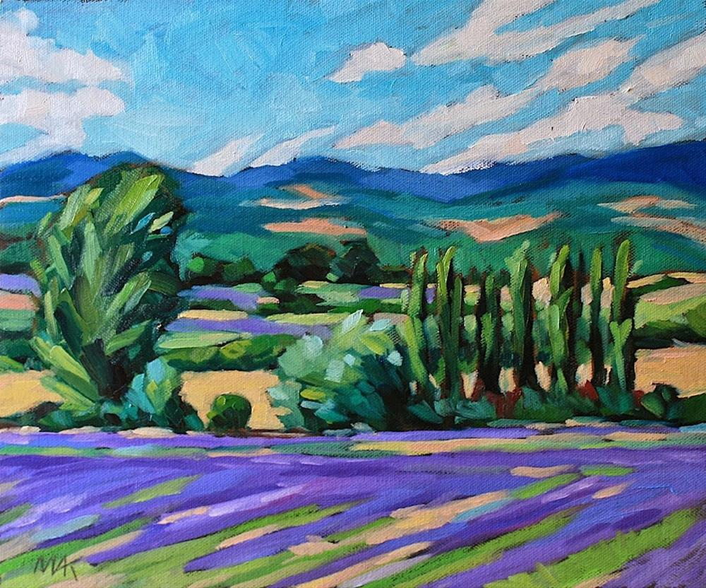"""Lavender and Blue Sky"" original fine art by Mary Anne Cary"
