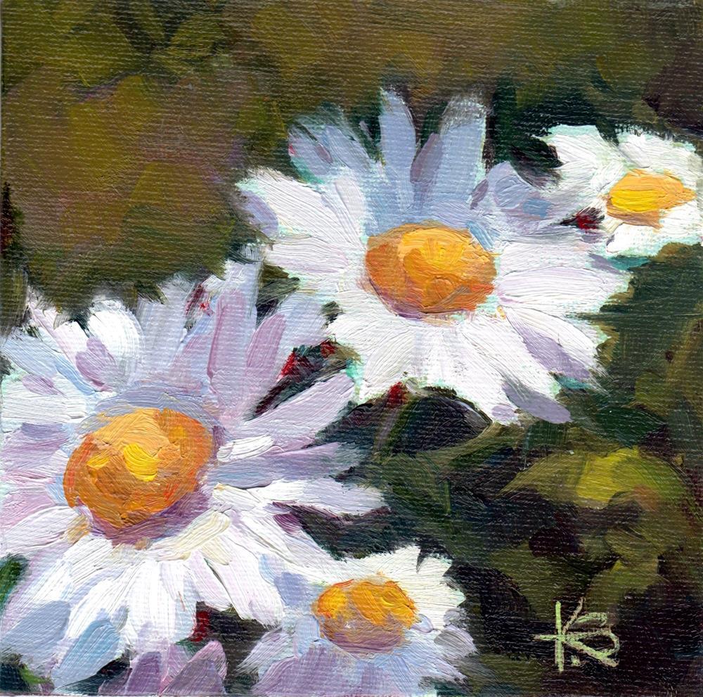 """White Daisies"" original fine art by Kathy Bodamer"