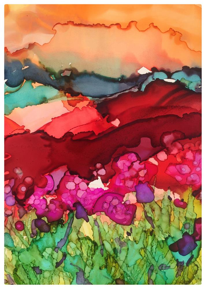 """Red Field III"" original fine art by Kelly Alge"