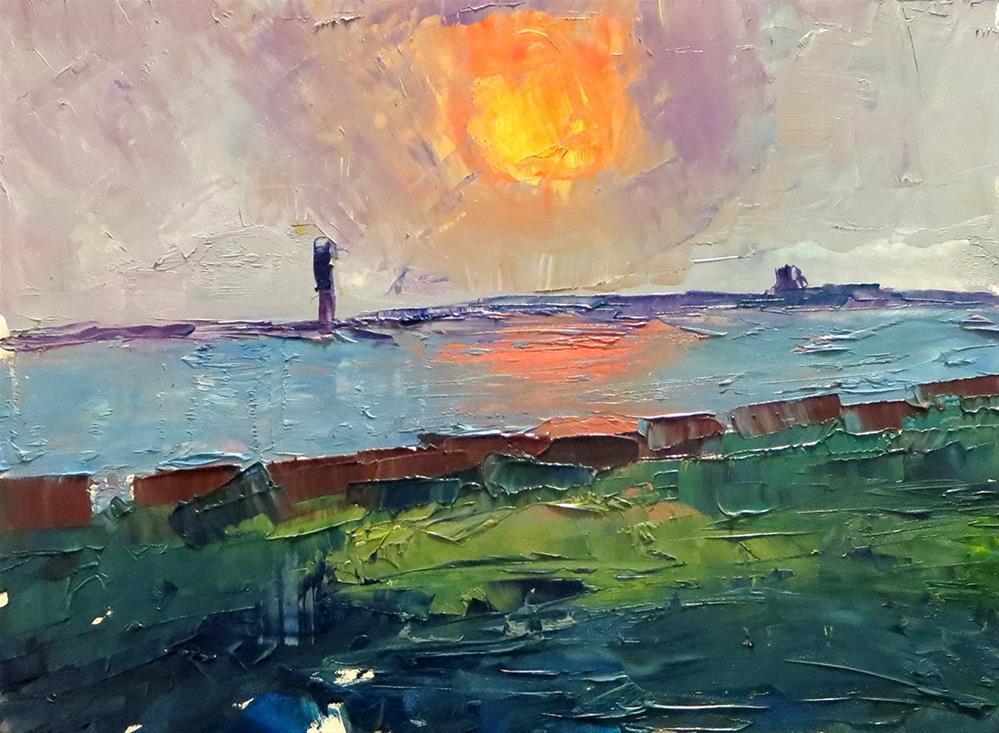 """High Head Road Sunset"" original fine art by Katherine Hambley"