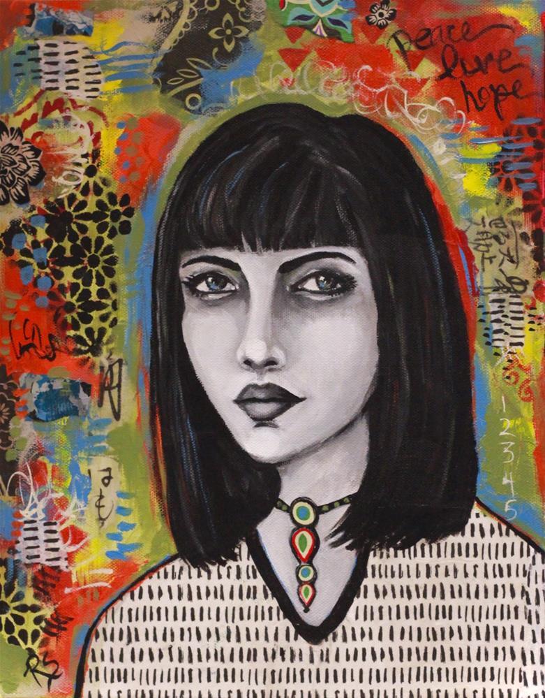 """""""Portrait of Eliana"""" original fine art by Roberta Schmidt ArtcyLucy"""