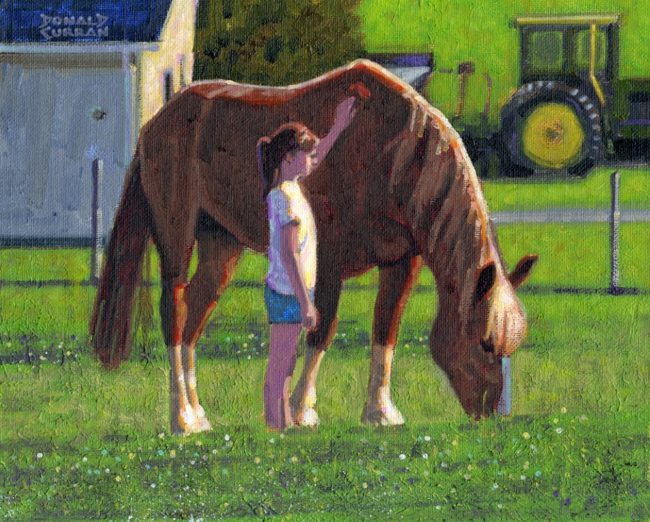 """A Tender Moment"" original fine art by Donald Curran"