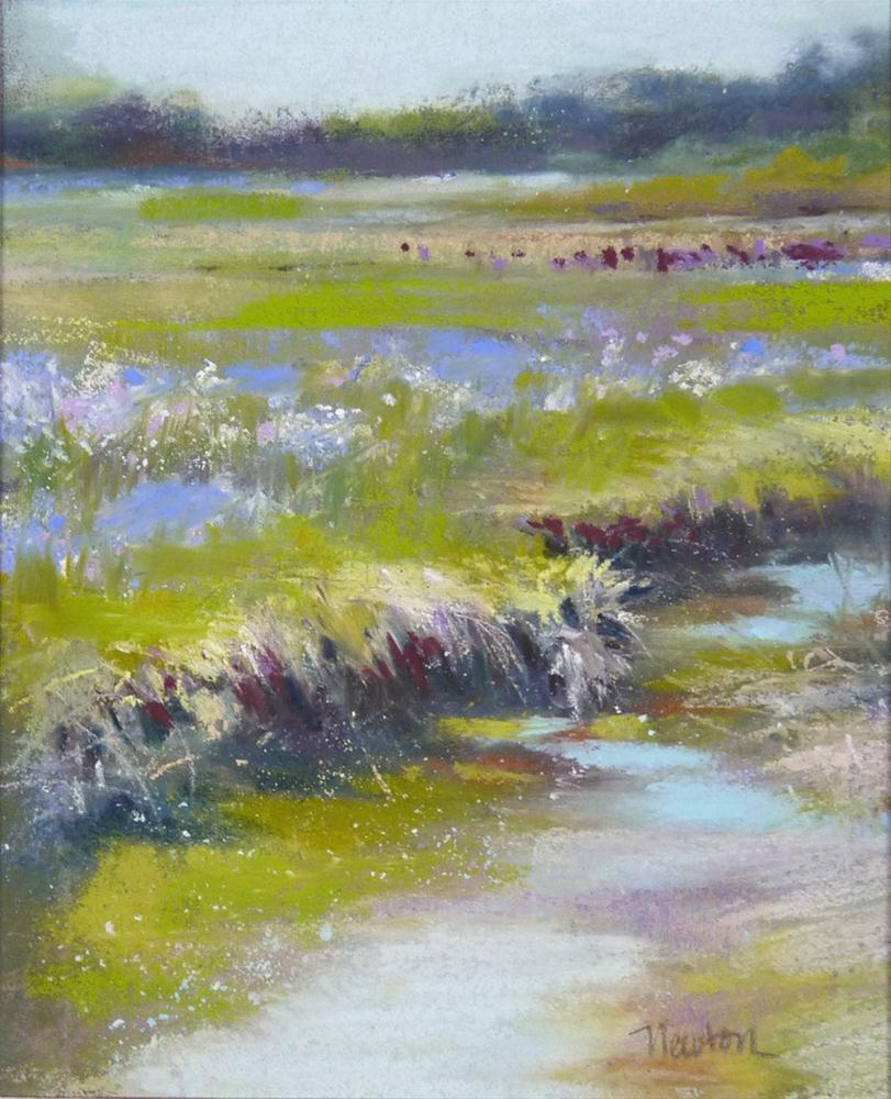 """""""Study for a larger work - Rivulet"""" original fine art by Barbara Benedetti Newton"""