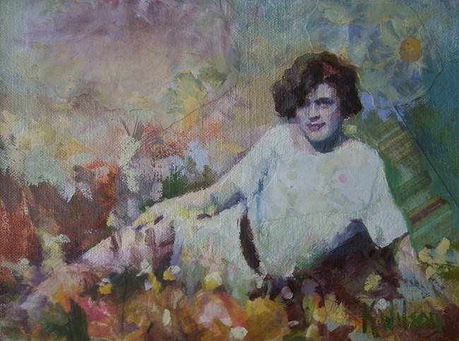 """""""Amongst the Flowers"""" original fine art by Katie Wilson"""