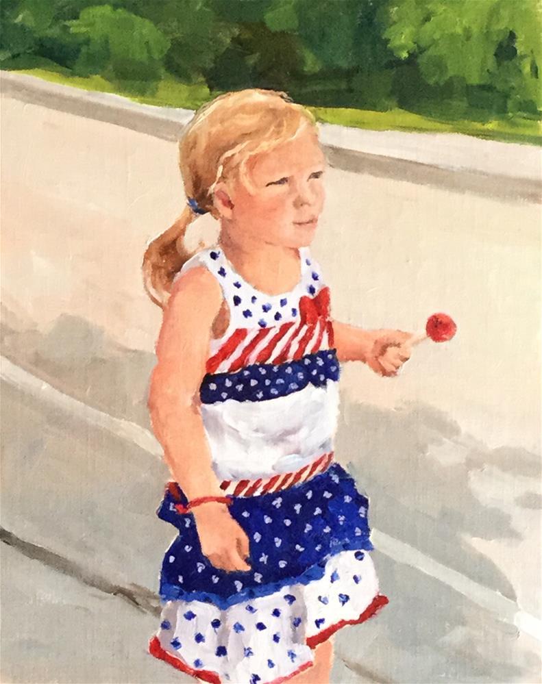"""""""Little Firecracker"""" original fine art by Alice O'Leary"""