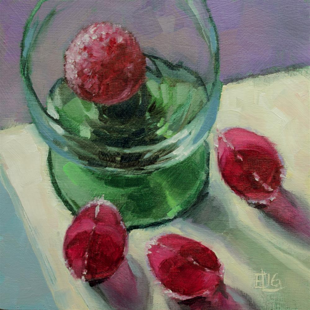 """Blackcurrant Jellies"" original fine art by Emilia Leinonen"