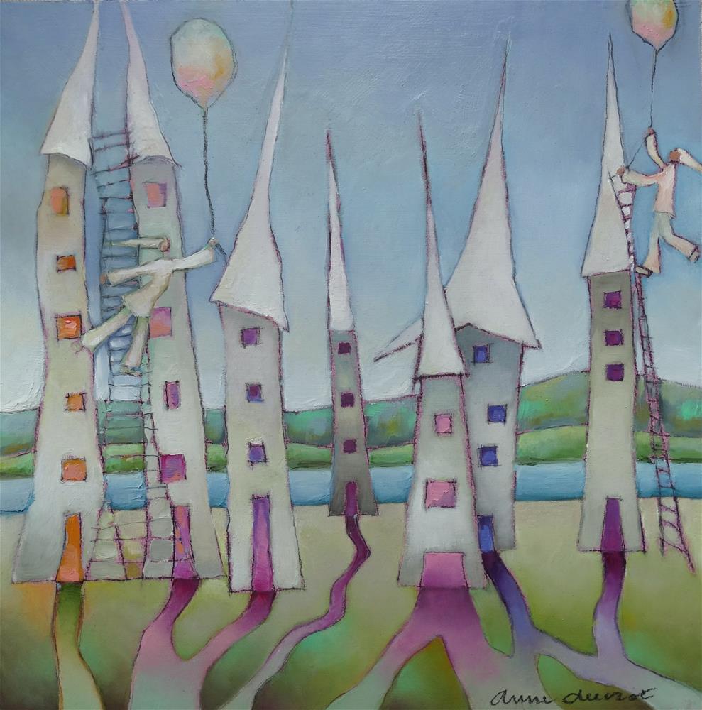 """Message in a Balloon"" original fine art by Anne Ducrot"