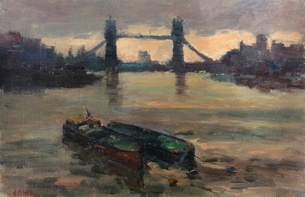 """Tower Bridge"" original fine art by John Shave"