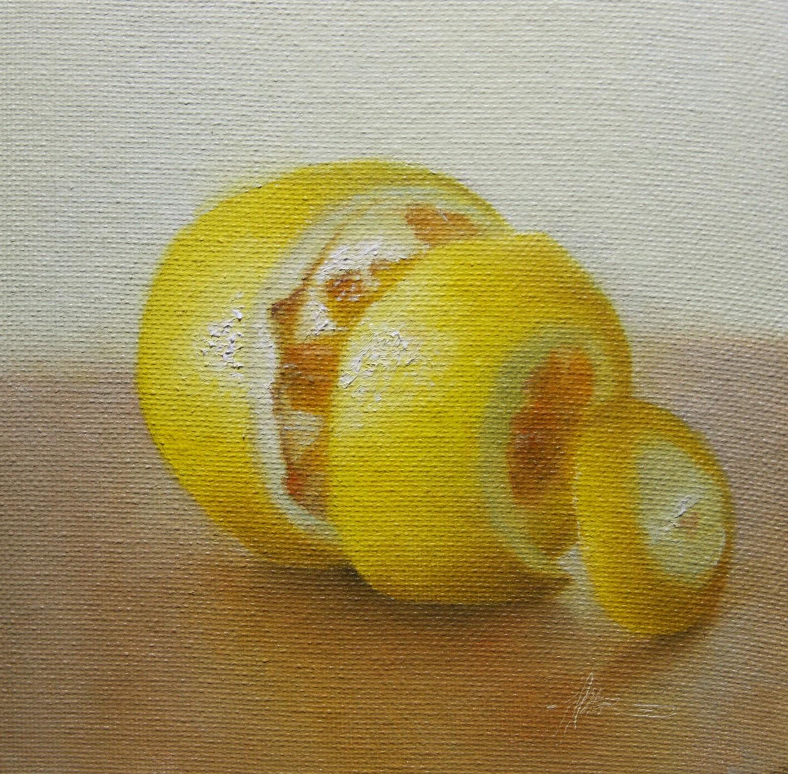 """""""Lemon Peeled"""" original fine art by Jonathan Aller"""