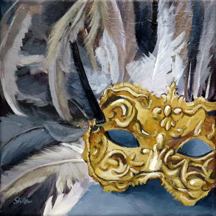 """1633 What Mask?"" original fine art by Dietmar Stiller"