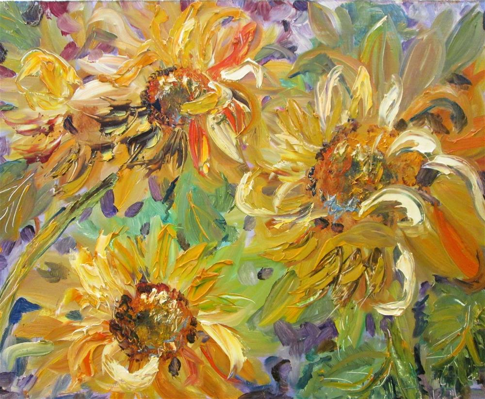 """Sunflowers NO. 4"" original fine art by Delilah Smith"