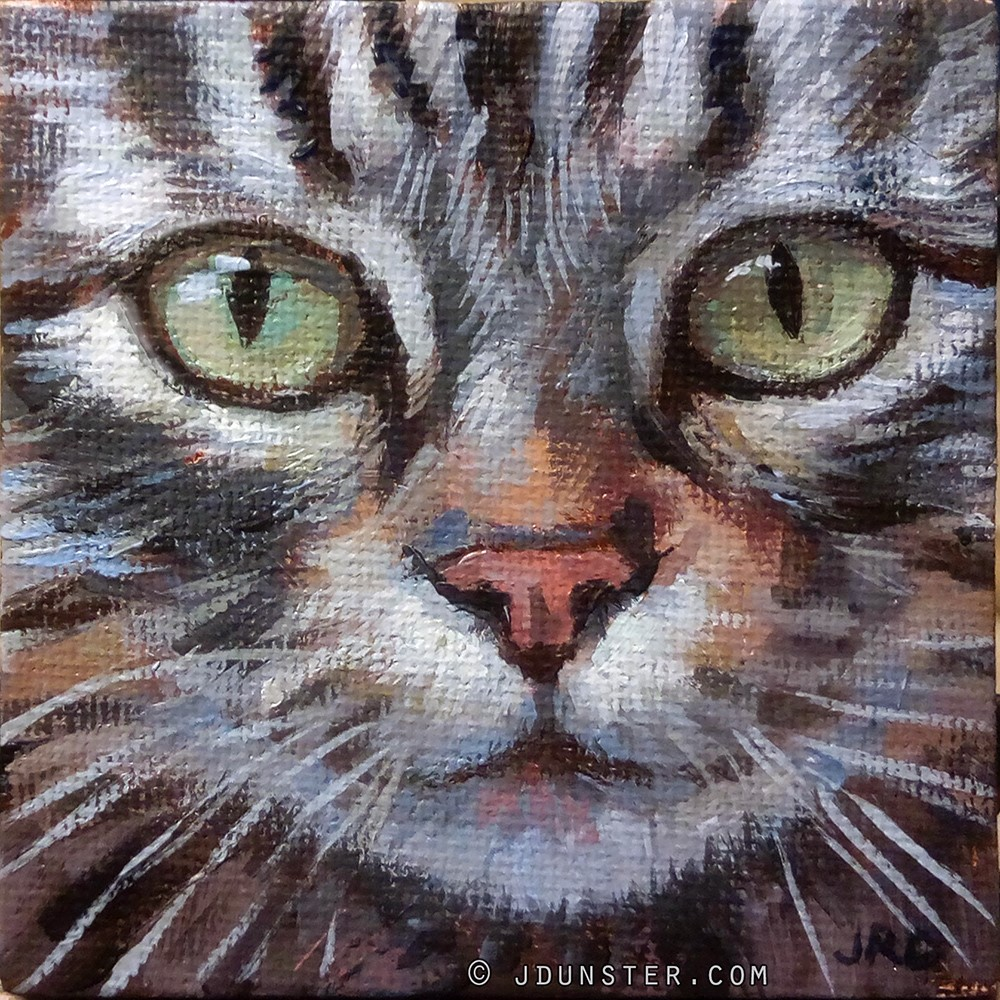 """Tabby Magnet"" original fine art by J. Dunster"
