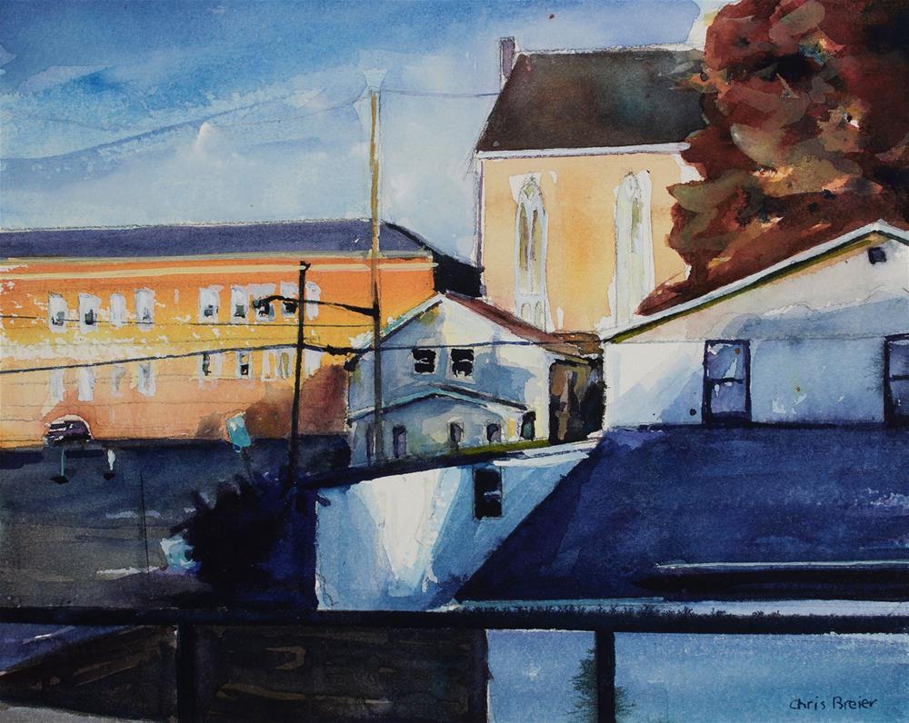 """The Village"" original fine art by Chris Breier"
