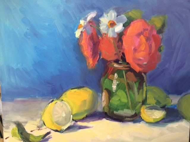 """Primary Colors"" original fine art by Naomi Bautista"