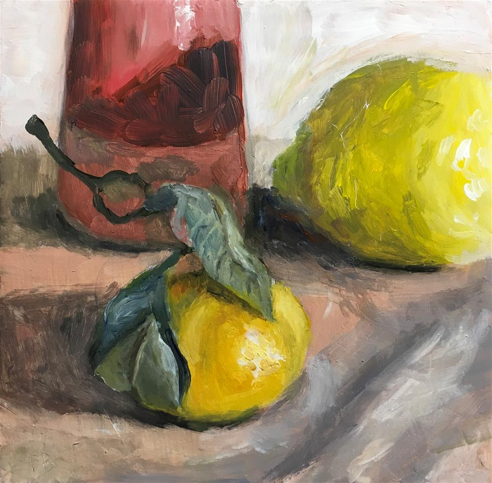 """""""161 Meeting Of The Citrus"""" original fine art by Fred Bell"""