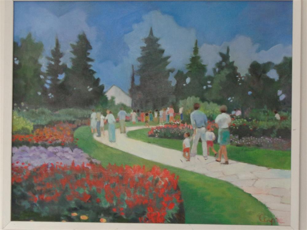 """the park"" original fine art by meribeth coyne"