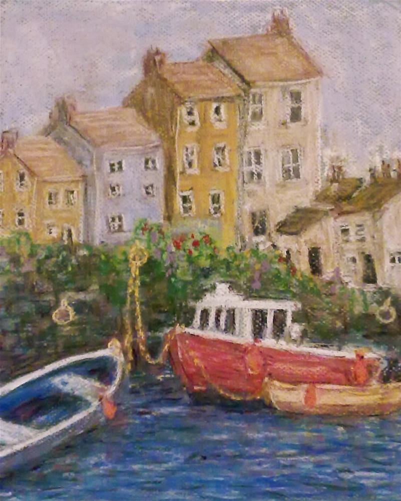 """Bright Harbour Days"" original fine art by Jules Fine Art Gallery"
