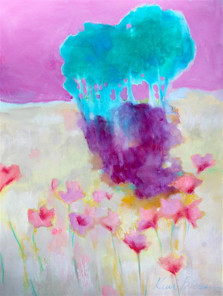 """Shade and Flowers "" original fine art by Kerri Blackman"