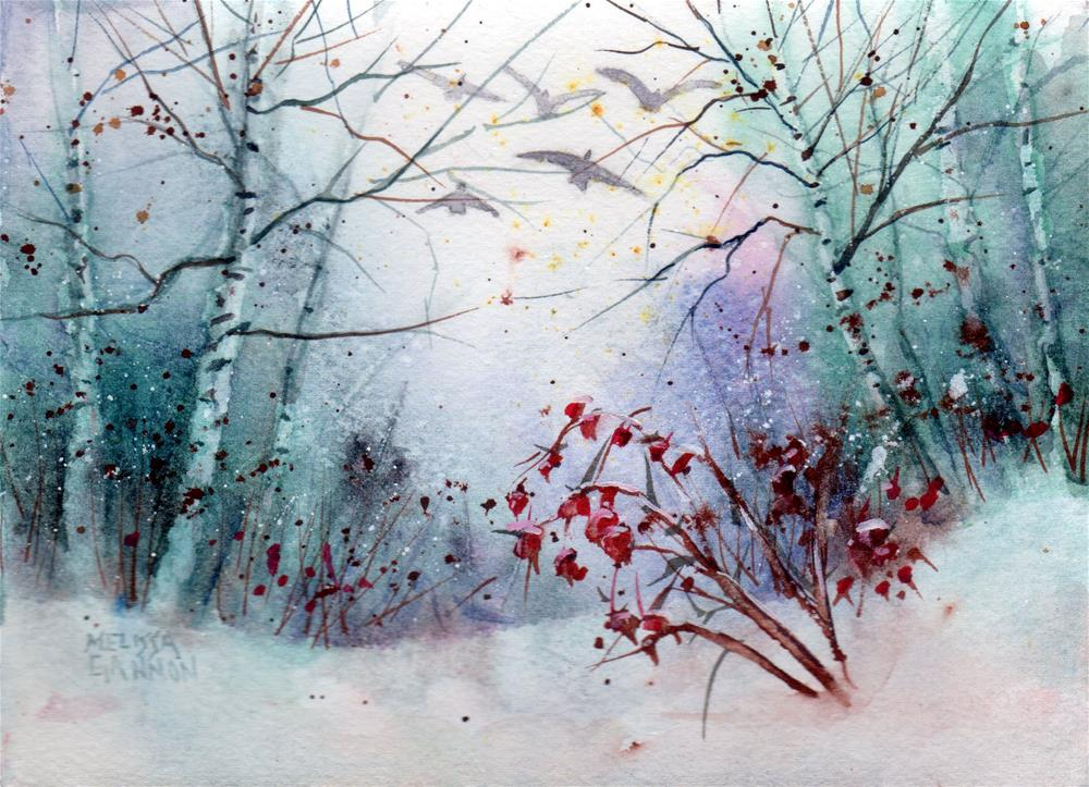 """Wintry Mix"" original fine art by Melissa Gannon"