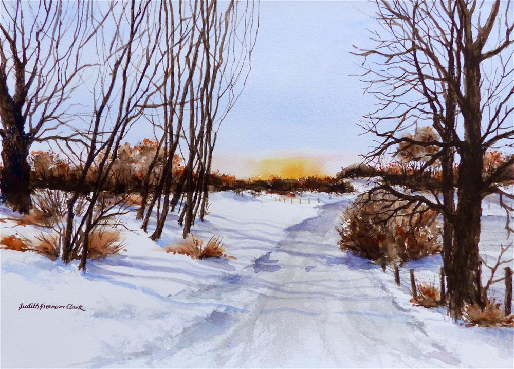"""Late Winter Sunset II"" original fine art by Judith Freeman Clark"