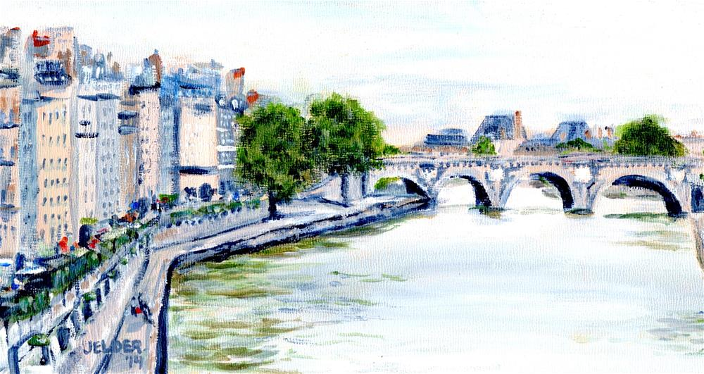 """Paris No. 47"" original fine art by Judith Elder"