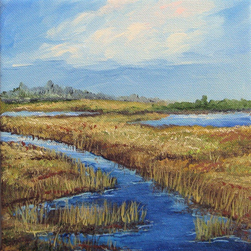 """""""Low Country View"""" original fine art by Torrie Smiley"""