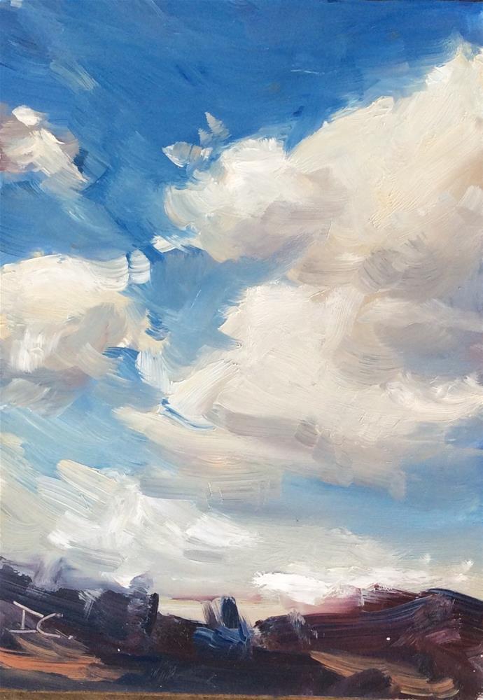 """""""COTTON SKY"""" original fine art by Doug Carter"""