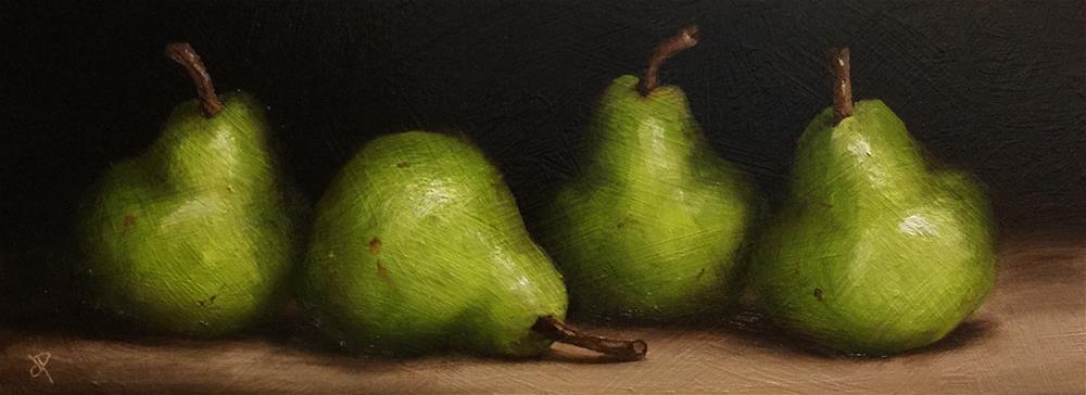 """four Pears"" original fine art by Jane Palmer"
