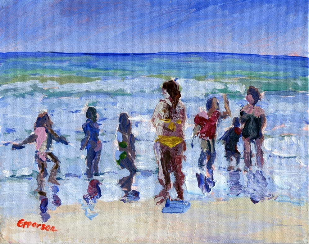 """""""Sea Play"""" original fine art by Stanley Epperson"""