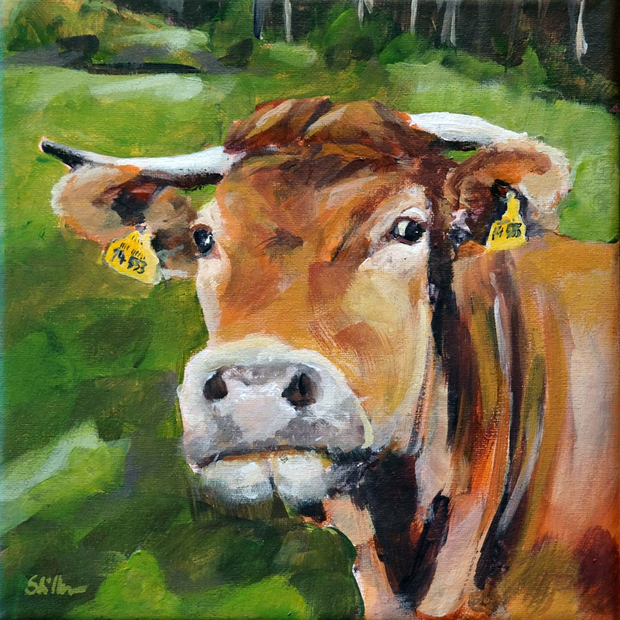 """1462 Cow Wow"" original fine art by Dietmar Stiller"