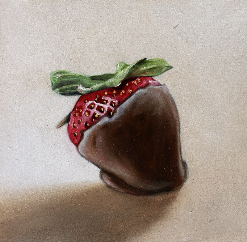 """Chocolate Covered Strawberry"" original fine art by Lauren Pretorius"