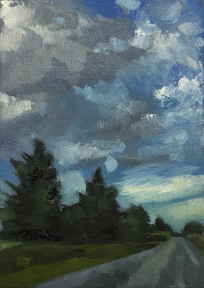 """Commuter Clouds"" original fine art by Elizabeth Dawn Johnston"
