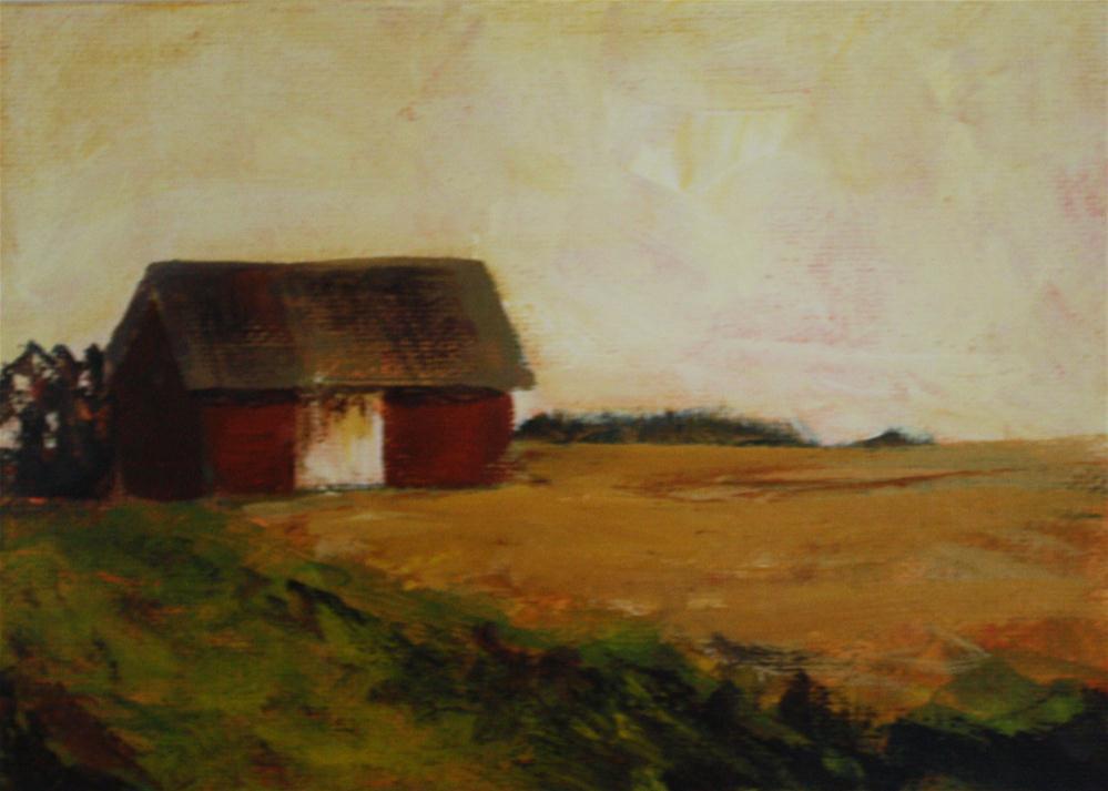 """Michigan Barn"" original fine art by Shannon Bauer"