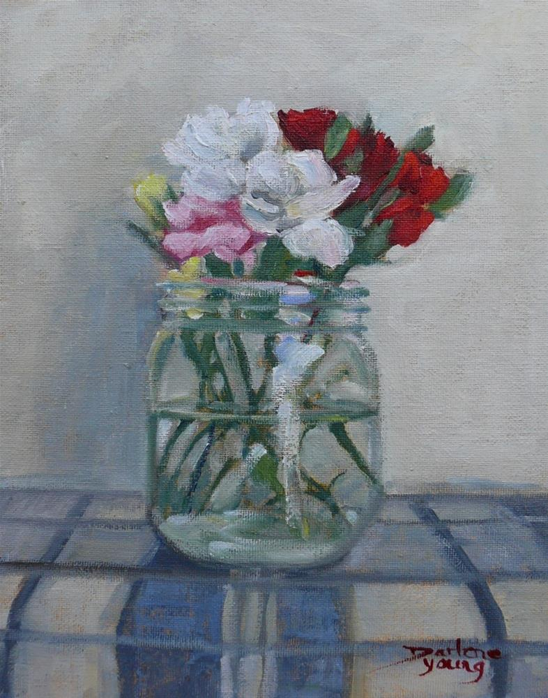 """Carnations in a Jar"" original fine art by Darlene Young"