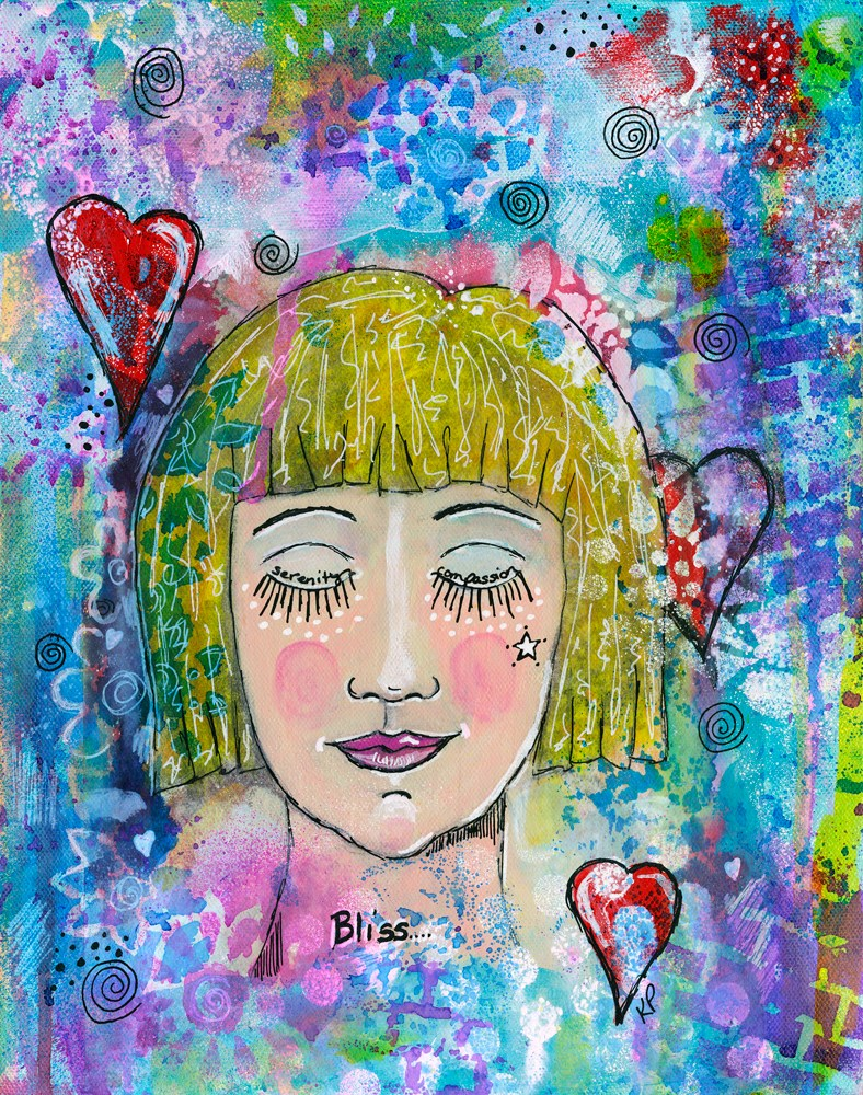 """Finding my Bliss"" original fine art by Kali Parsons"