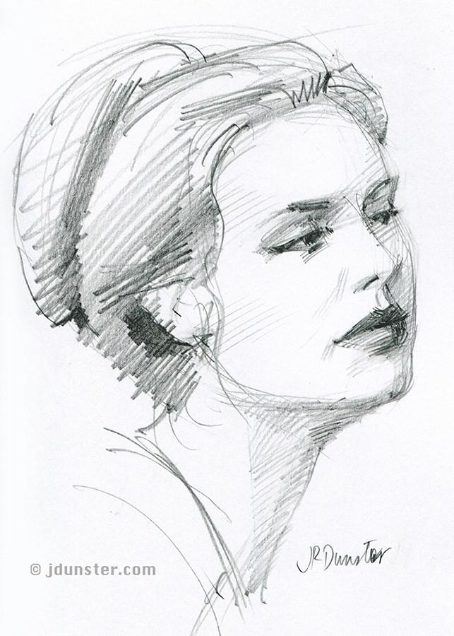 """""""Emma sketch"""" original fine art by J. Dunster"""