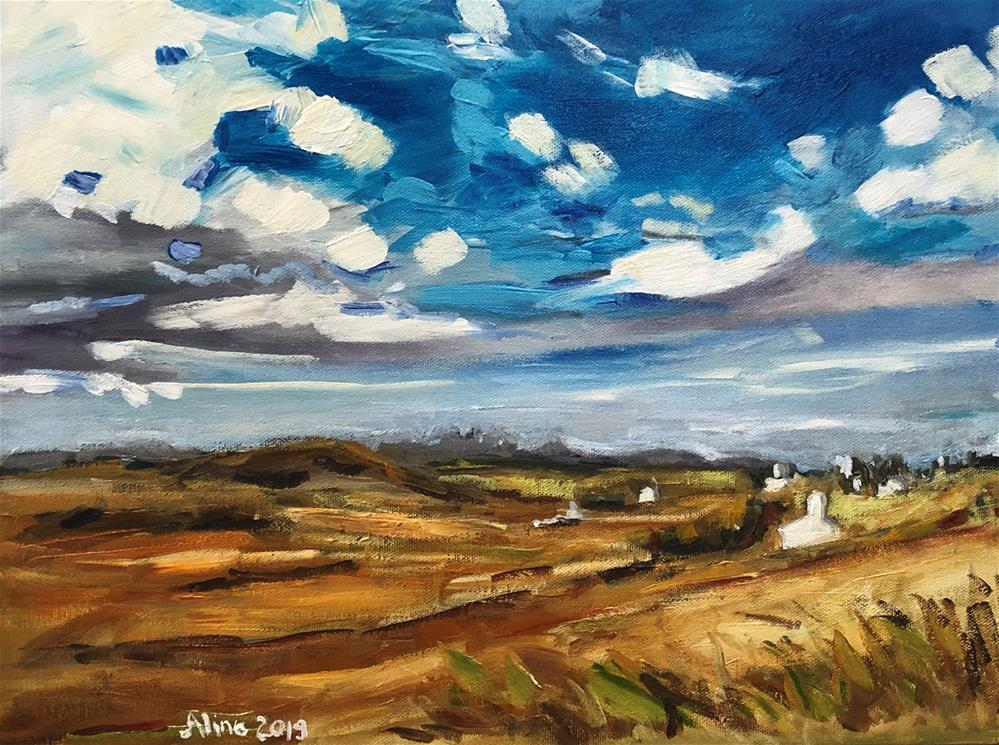 """Isle of Skye Landscape"" original fine art by Alina Vidulescu"