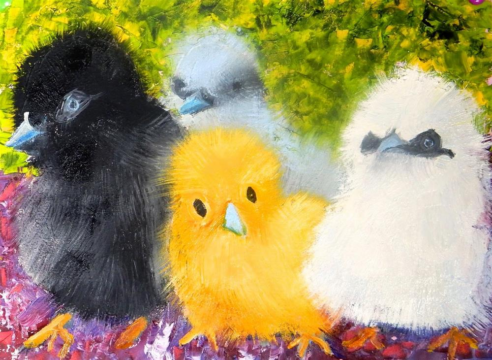 """Birds of a Feather"" original fine art by Phyllis Davis"
