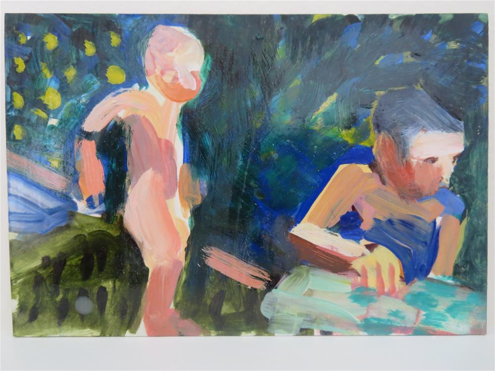 """In the Garden # 19"" original fine art by Pamela Hoffmeister"