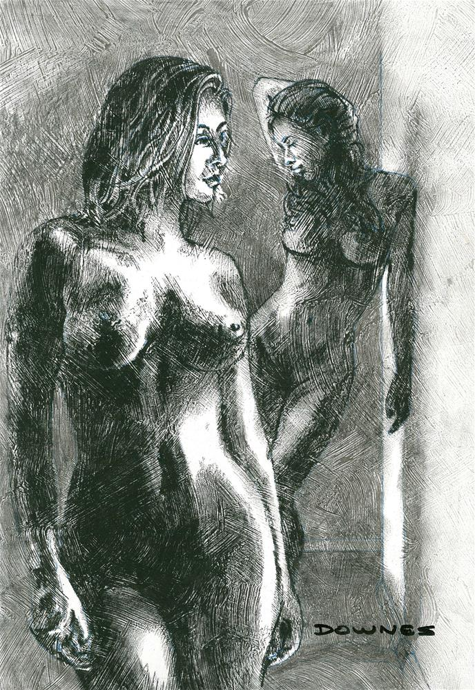 """320 LIFE DRAWING 34"" original fine art by Trevor Downes"