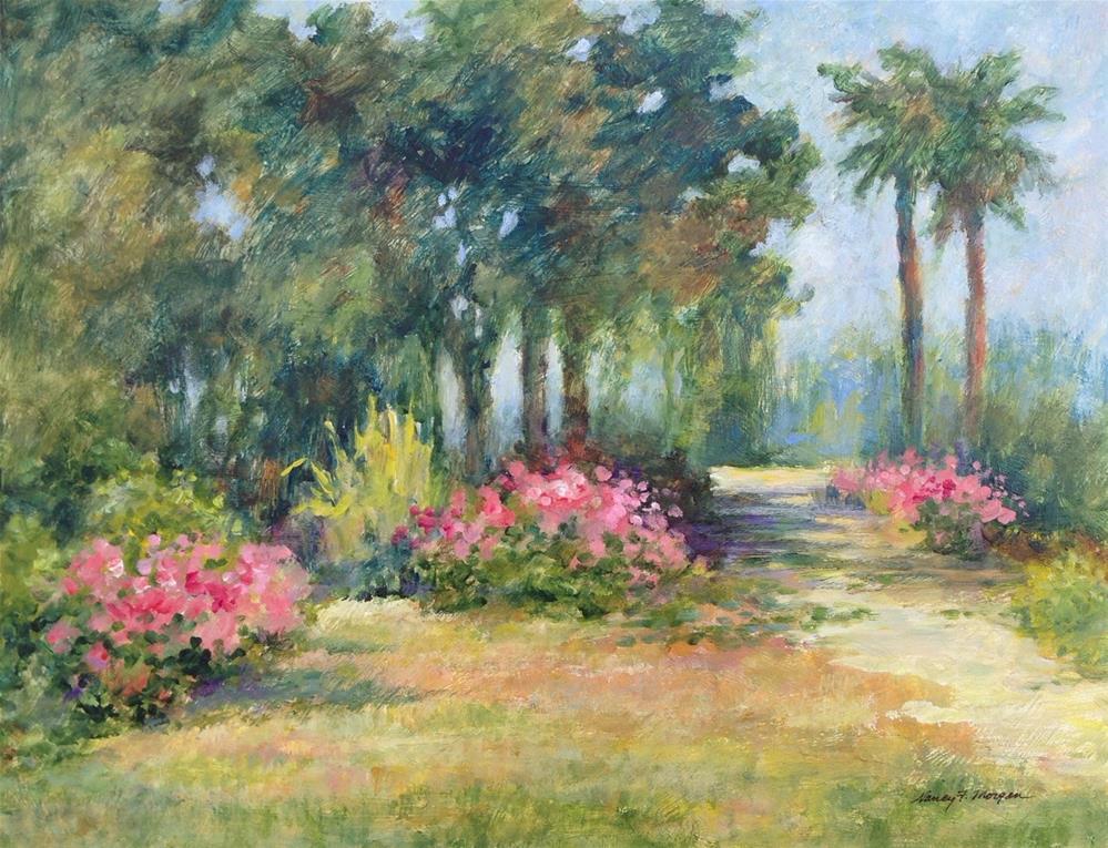 """Sunlit Path"" original fine art by Nancy F. Morgan"