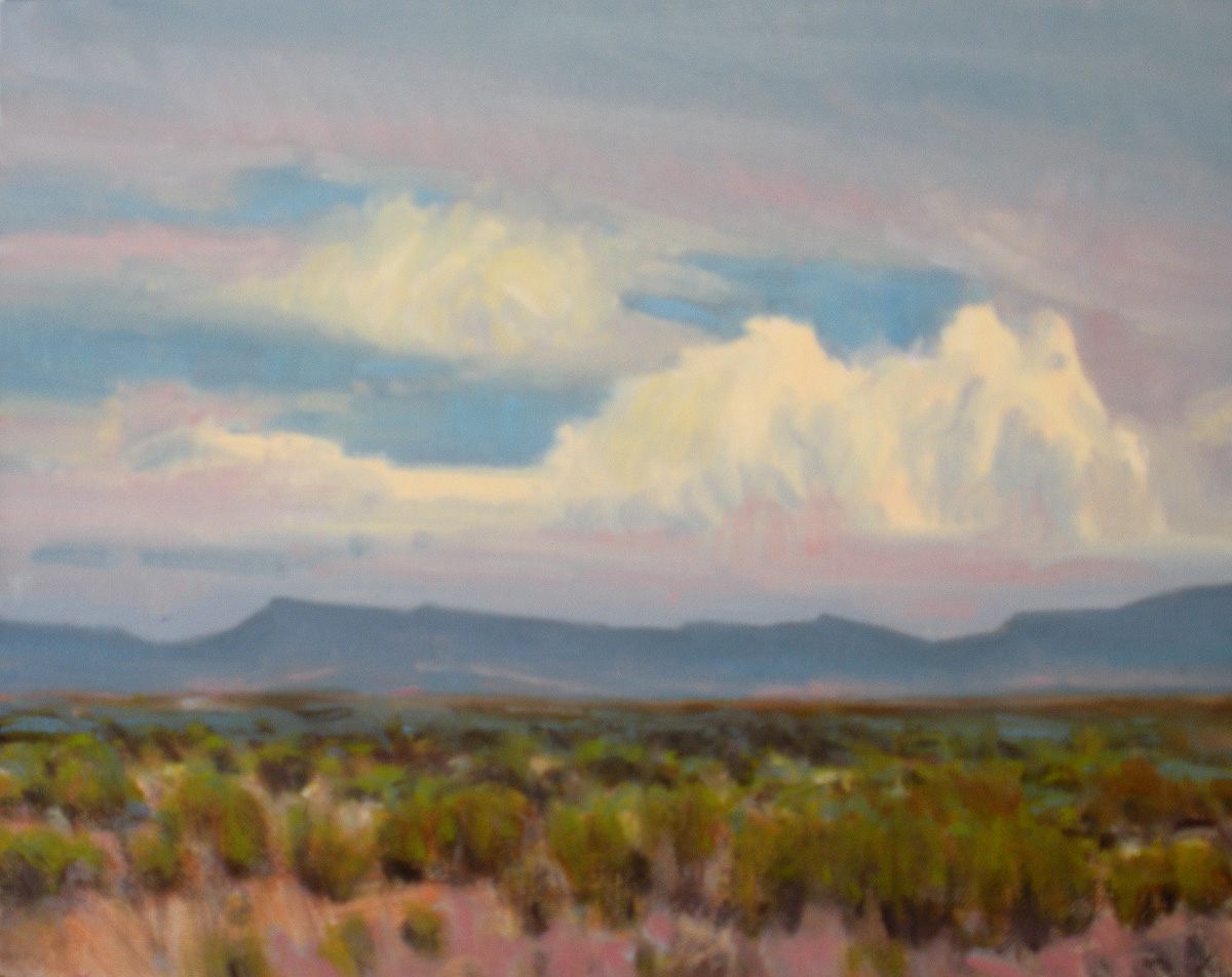 """""""Afternoon Clouds over the Glass Mountains"""" original fine art by David Forks"""
