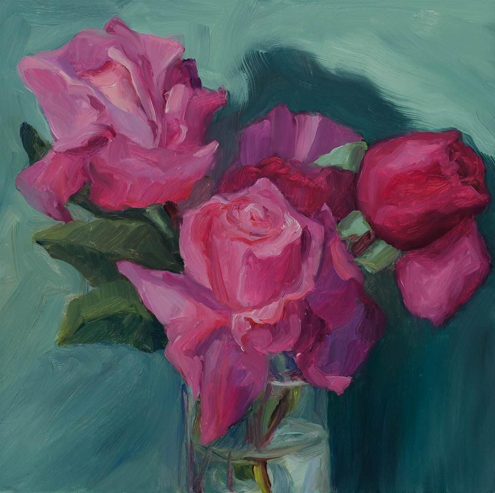 """Stolen Roses #2"" original fine art by Jana Bouc"