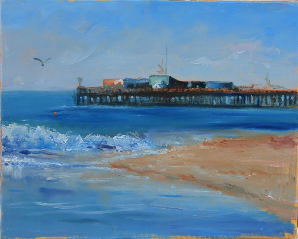 """""""Bay wharf"""" original fine art by Marco Vazquez"""