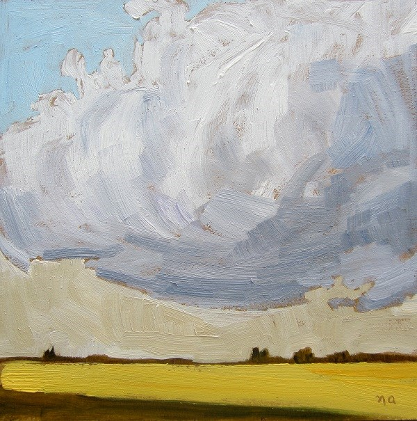 """Canola In Sunbeam"" original fine art by Nicki Ault"