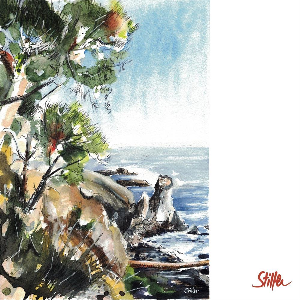 """""""3288 Rocky Beach"""" original fine art by Dietmar Stiller"""