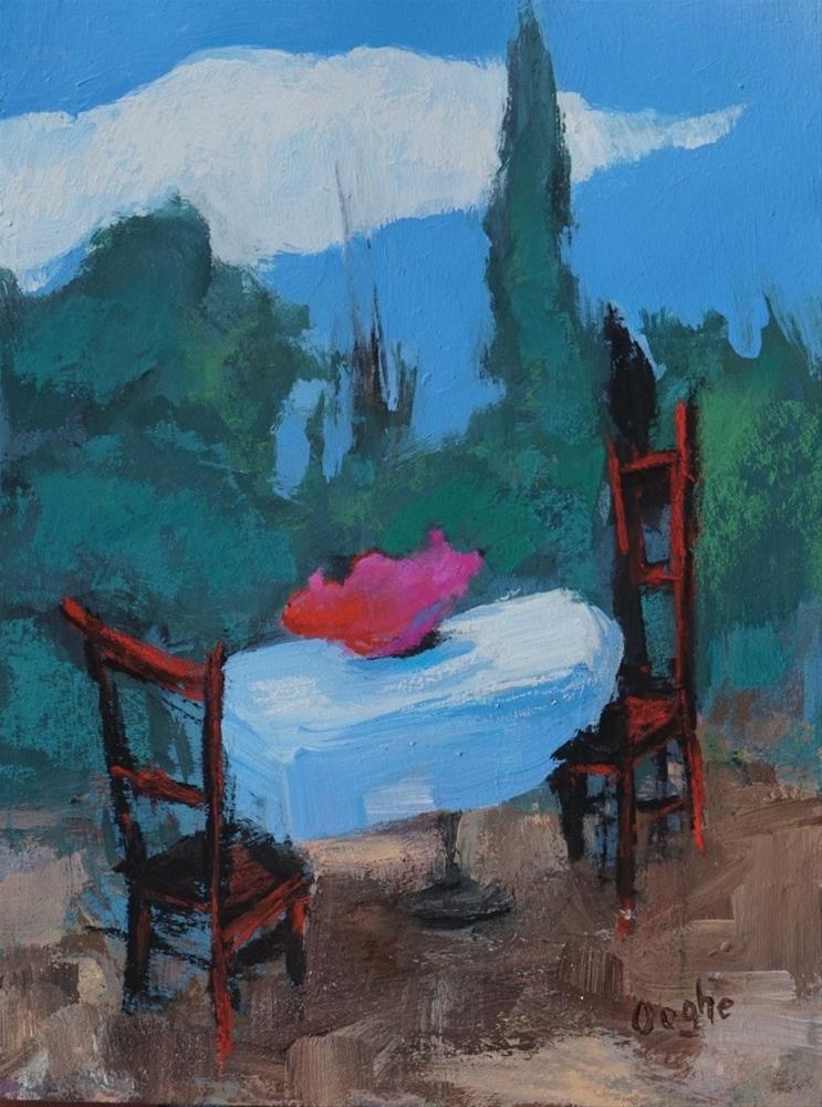 """""""Table with Flowers"""" original fine art by Angela Ooghe"""